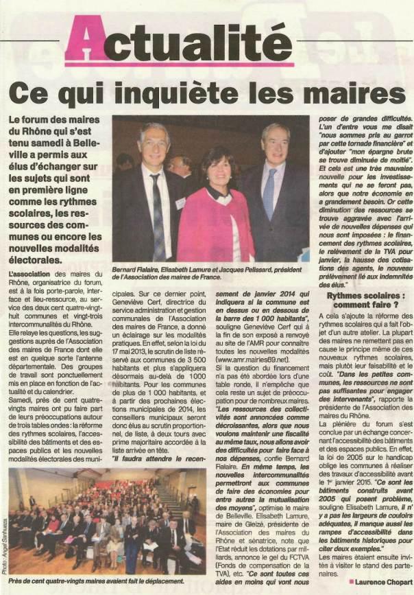 Congrès des Maires du Rhône à Belleville