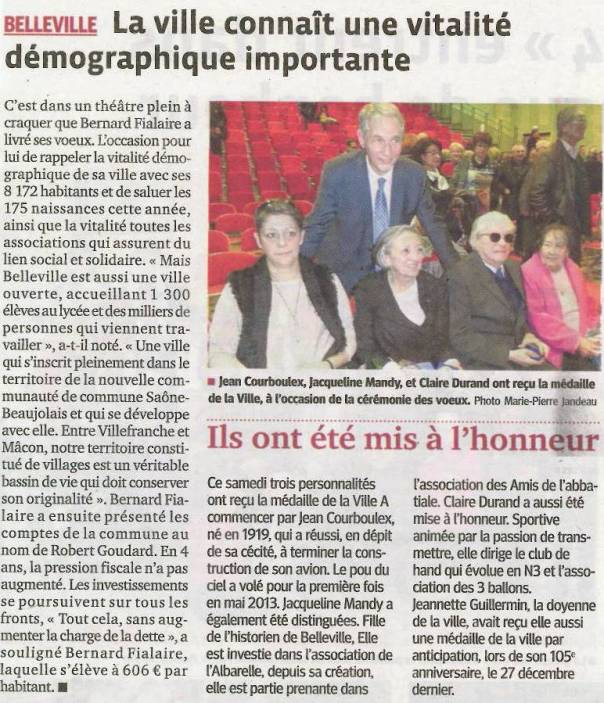 Belleville-sur-Saône : une démographie  importante.