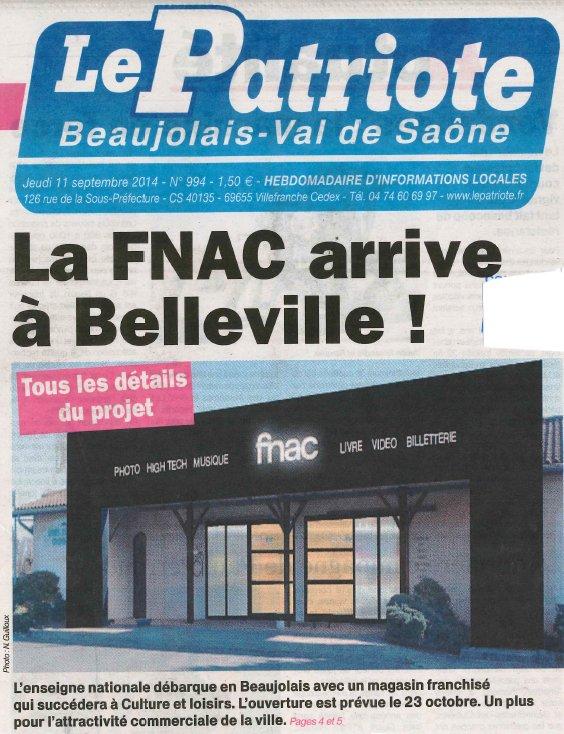 La FNAC à Belleville dans le Rhône